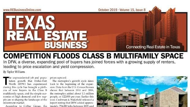 Texas Real Estate Business article