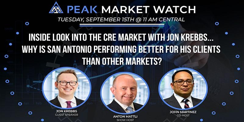 Webinar promo for Peak Market Watch featuring Jon Krebbs